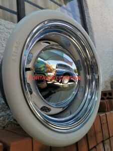 """Old tire style 4X15"""" Tire Rubber White wall Trim 2"""" Wide Chevy Bel air 150/210."""