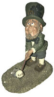 irish leprechaun   Blarney Stone Miles O'Swing Golf Figurine 1996 Dinnians