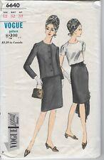 Vtg Vogue Special Design 6640 Pattern 1960s 60s Suit Jacket Top Blouse Skirt 12