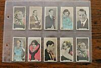 32 CINEMA STARS, 1934, ABDULLA CIGARETTE  CARDS, PICK YOUR CARDS