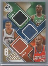 2009-10 SP Game Used Basketball 6 Star Swatches Jersey Card #20/65 Kevin Garnett