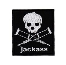 Jackass Embroidered Patch Skull Crossed Crutches