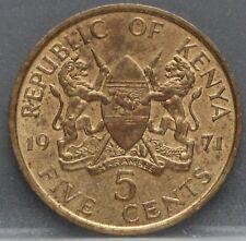 Kenia Kenya - five 5 cents 1971