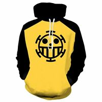 Anime One Piece Trafalgar Law Hoodie Sweatshirt Pullover Jumper Cosplay Costume