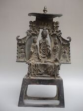Collected Ancient China Old Copper Buddha Officer Manufacturing Tribute Emperor