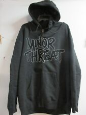 NEW - MINOR THREAT BAND / CONCERT / MUSIC ZIP UP HOODIE SWEATSHIRT LARGE