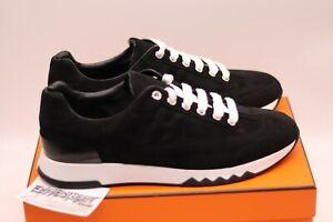 HERMES Paris Trail Suede Sneaker | Black White | Size 40 | 2020 | 100% Authentic
