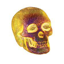 What On Earth LED Lit Skull Light - Silver Mercury Glass Table Desk Accent Lamp