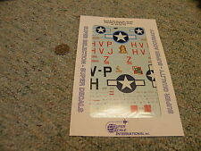 Superscale decals 1/48 48-940 P-47M Black Bolts 61st FS 56th FG    N77