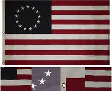 8x12 FT Embroidered Betsy Ross Historical 600D Nylon Flag Banner (Heavy Duty)