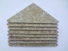 4 Tumbled Limestone Corner Shelves for Tile Shower Soap/Shampoo Shelf/Dish Beige