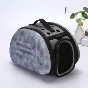 Pet Dog Puppy Carrier Travel Portable Comfort Mesh Zip Door Strap Breathable