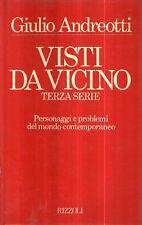 O3 Visti da vicino Giulio Andreotti Rizzoli I ed 1985