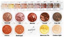"MAHYA Pure Mineral Vegan Makeup Eye Shadow Pigment 9 Stackable Colors ""Fall"""