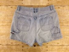 Vtg The Limited Sz 10 Light Wash High Waist Carpenter Denim Jean Short Shorts