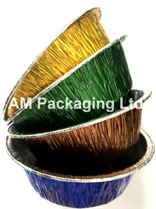 * 180 Pukka Pie Foil, Blue, Copper, Green, Gold, Aluminum, Meat, Chicken, BF005