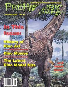 THE PREHISTORIC TIMES #42 - magazine of Dinosaur collecting, David Allen tribute