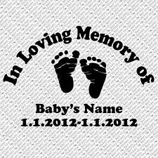 IN LOVING MEMORY BABY BOY GIRL CHILD CAR WINDOW VINYL DECAL STICKER (LM-01)