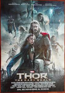 Thor The dark world Poster Locandina Cinema Pieghevole 100x70 Circa Nuovo