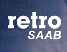 RETRO SAAB Vinyl Classic/Vintage Car/Van/Window/Bumper Sticker/Decal
