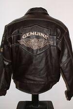 HARLEY DAVIDSON Mens Small S Heavyweight Leather Bomber Jacket