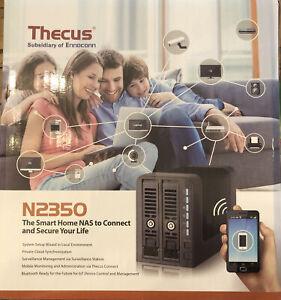 Thecus N2350 NAS Tower Ethernet LAN Black Storage Server Open Box
