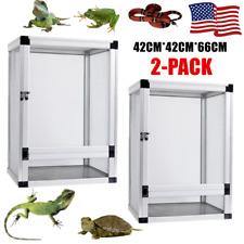 2X Screen Terrarium Tank Reptile Enclosure Cage Habitat for Lizard Snake Large