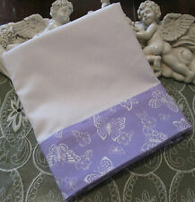 COUNTRY COTTAGE BEAUTIFUL LAVENDER & WHITE BUTTERFLIES PILLOWCASE - NEW