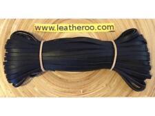 """Kangaroo Lace BLACK Kangaroo Leather Lace (2.0mm 1/16"""" Wdth) 10 meter hank"""