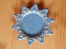 Teller Keramik Stern Glitzer blau silber Weihnachten