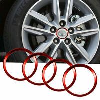 4x Red Car Wheel Rim Sourrondings for Toyota Camry Center Cap Hub 2011-2016