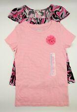 Multi Brand Girls Pink Short Sleeve Sleeveless Tops Set Size Large 10-12