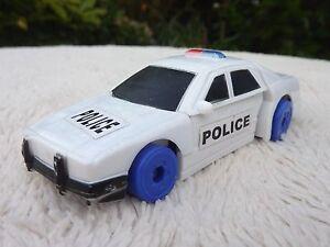 Bootleg Transformer Type White Police Car Plastic Toy Good Used Conditon Rare!