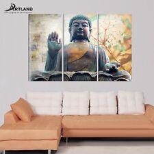 "Modern ""Yellow Buddha"" Print on Canvas Wall Art Decor with Frame—ARTLAND"
