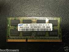 SAMSUNG 2GB (1x2GB) 2Rx8 PC3-8500S LAPTOP RAM M471B5673EH1-CF8