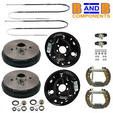 VW GOLF MK1 BRAKE DRUMS SHOES BACK PLATES WHEEL CYLINDER CABLES KIT A1459