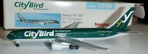 Herpa 1:500  City Bird Airlines   767-300  -  502924