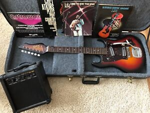 Norma Electric Guitar with Small Amp and Case