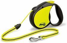 Flexi Neon Dog Lead Heavy Duty Extendable Retractable 5M For Large 20Kg Pet Dogs