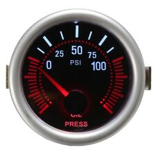 Universal 2 Inch 52mm Auto Car LED LCD Digital Oil Pressure Meter Gauge Face Bla
