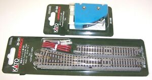 Kato N Gauge Unitrack R/H Electric Point Turnout 20-221 & Control Switch 24-840