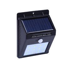 12LED Outdoor Motion Sensor Solar Wall Light Waterproof Garden Patio Dark Steps