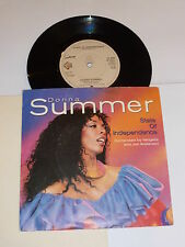 "DONNA SUMMER - State Of Independence - Deleted 1982 UK 7"" Vinyl Single"