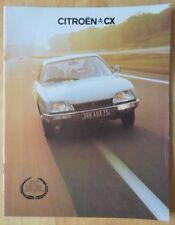CITROEN CX range 1975 1976 UK Mkt sales brochure