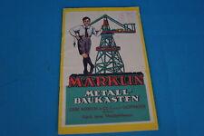 Marklin M 291 A Metall Baukasten booklet 1930 10 08 30