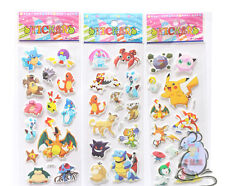 New 100 sheets 3D Pikachu Pokemon small Stickers Children's Party Gifts 21x7.5cm