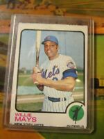 Willie Mays 1973 Topps Baseball Card #305 NY Mets~
