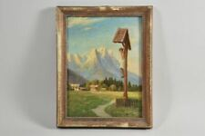 g36e82- Gemälde, Marterl im Gebirge, sign. Stohl