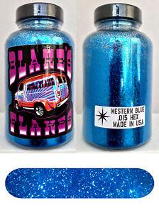 Blakes Metal Flake .015 Western Blue deep dark Prismatic Hot Rod custom 5oz jar