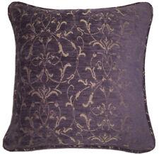 A 16 Inch cushion cover in Laura Ashley Allegra Aubergine Fabric